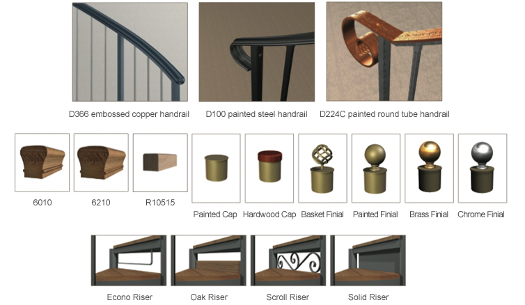 Metal Spiral Stair Components and Accessories