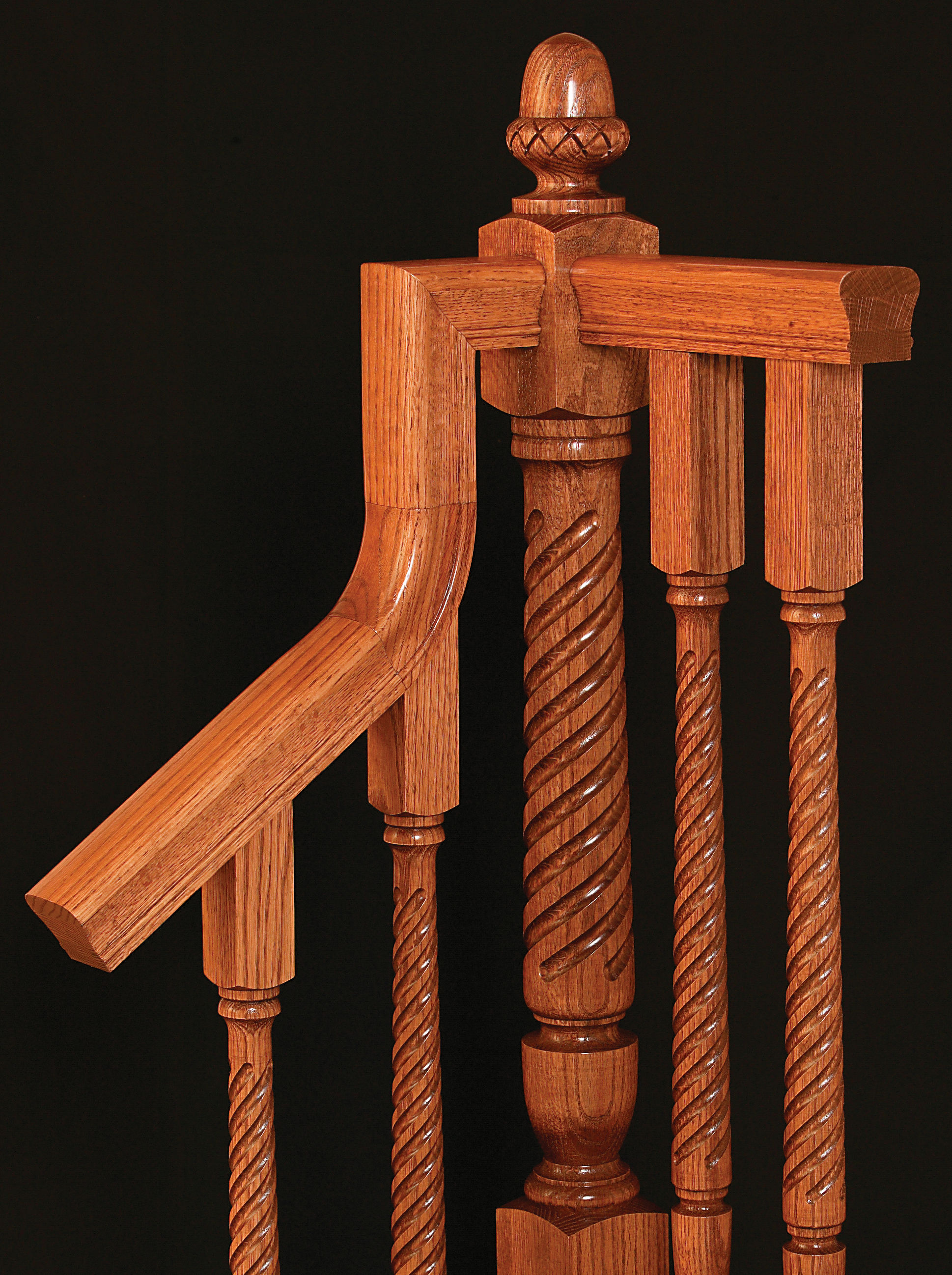 Twist Bunker Hill Newel and Balusters