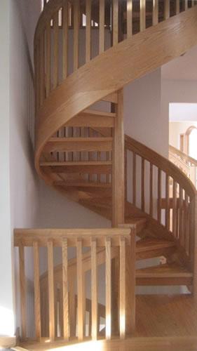 Contempo Red Oak Spiral Staircase