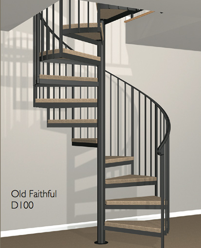 Superbe D100 Crown Heritage Metal Spiral Staircase ...