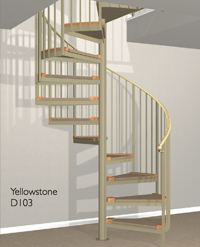 D103 Crown Heritage Metal Spiral Staircase