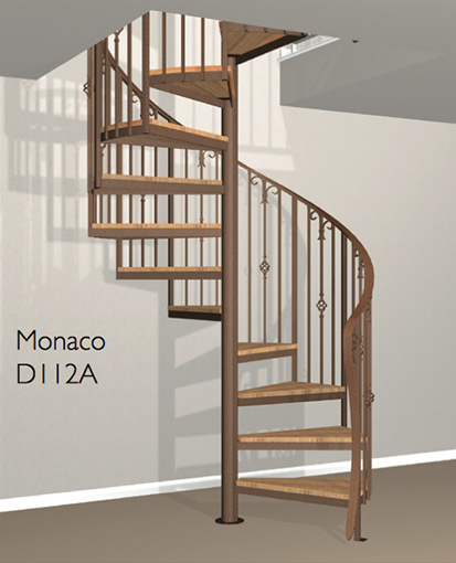 D112a Crown Heritage Metal Spiral Staircase