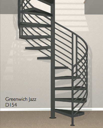 D154 Crown Heritage Metal Spiral Staircase