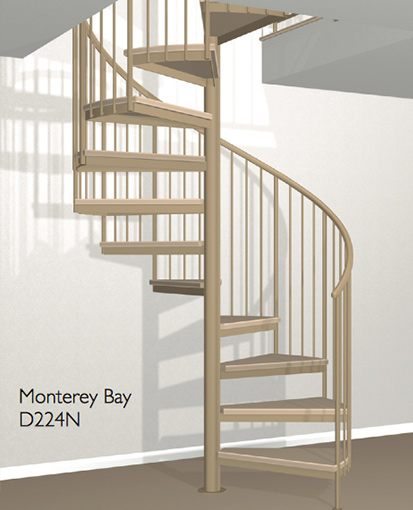 D224n Crown Heritage Metal Spiral Staircase