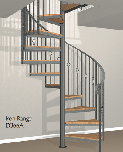 D366a Crown Heritage Metal Spiral Staircase