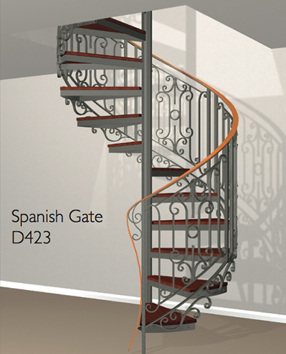 D423 Crown Heritage Metal Spiral Staircase