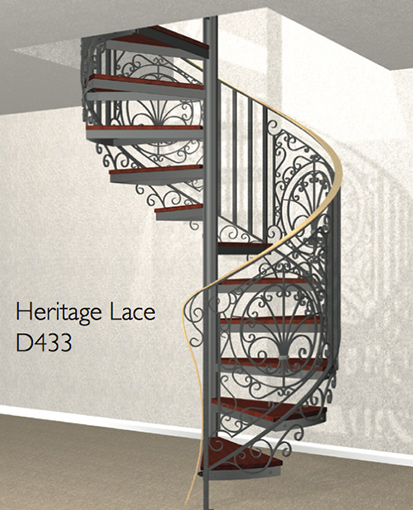 D433 Crown Heritage Metal Spiral Staircase