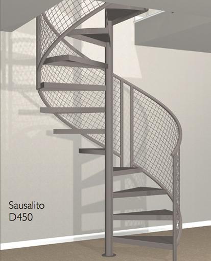 D450 Crown Heritage Metal Spiral Staircase