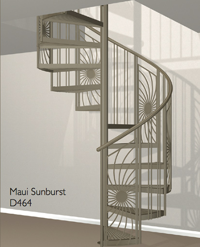 D464 Crown Heritage Metal Spiral Staircase