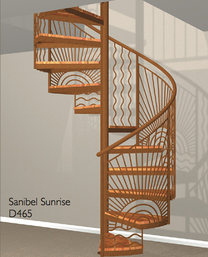 D465 Crown Heritage Metal Spiral Staircase