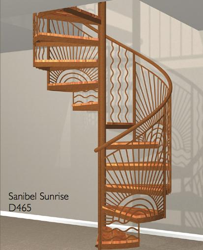 D465 Crown Heritage Metal Spiral Staircase