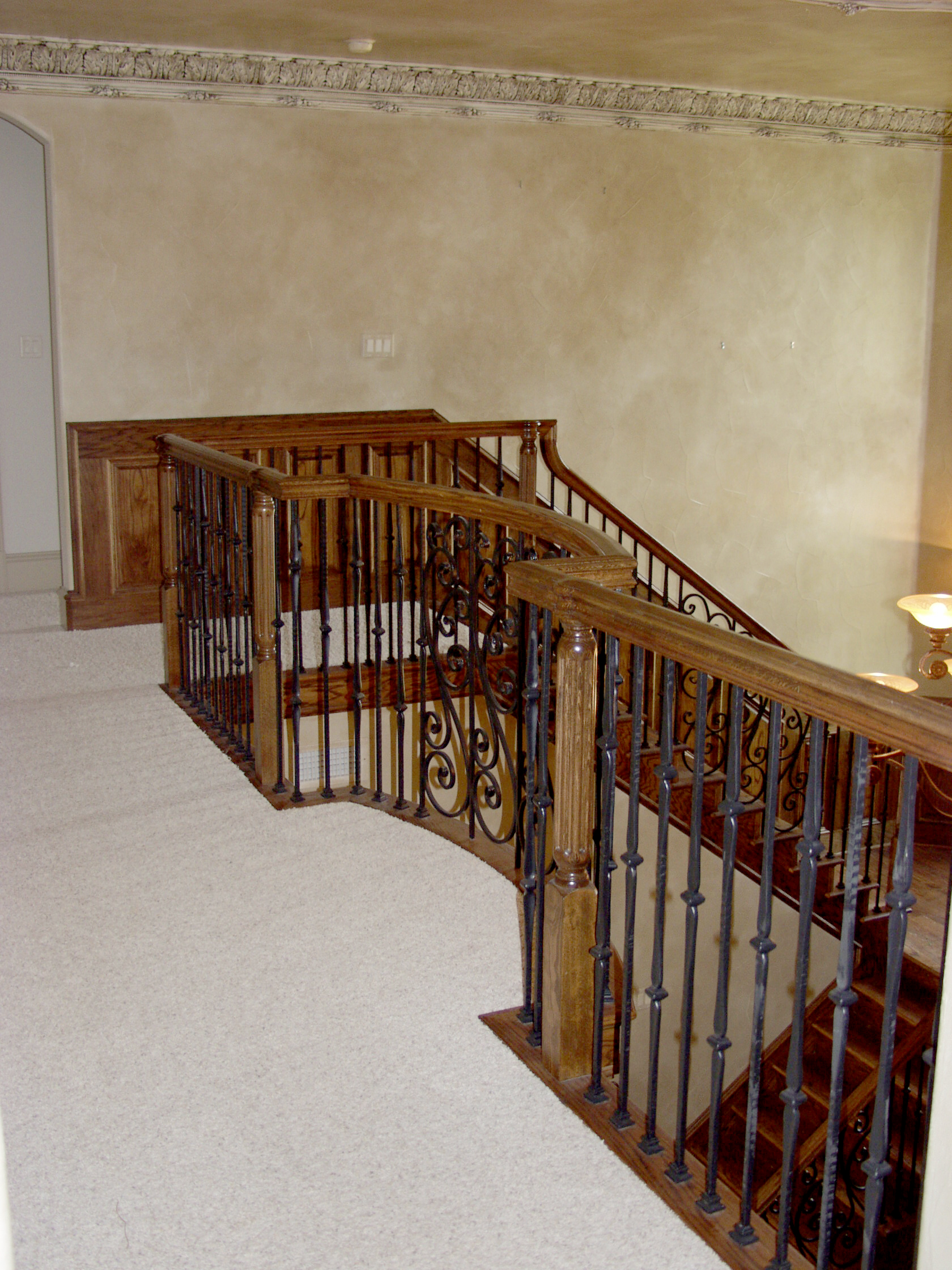 Gothic Staircase with Feathered S-Scrolls