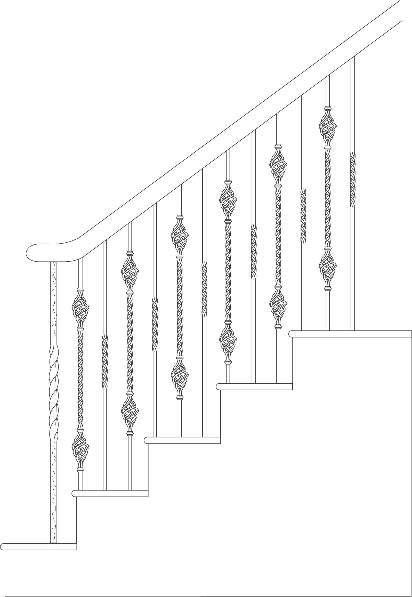 Palermo Cadd Iron Baluster Example