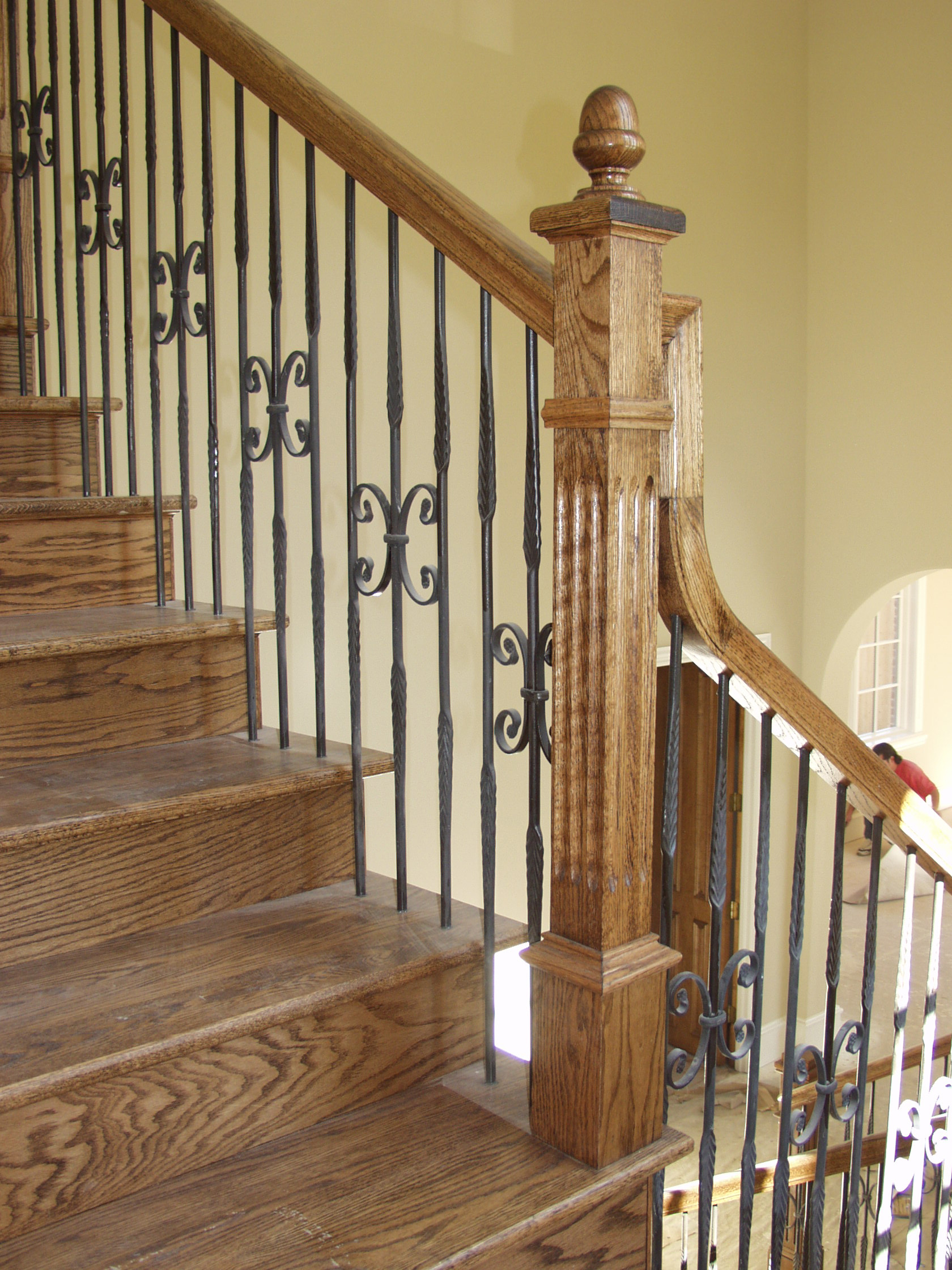 Round Iron Balusters with Feathers