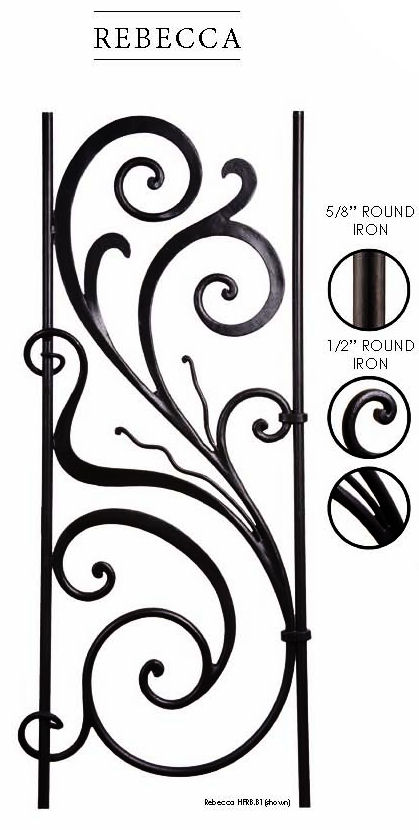 Rebecca Iron Stair Panel by House of Forgings
