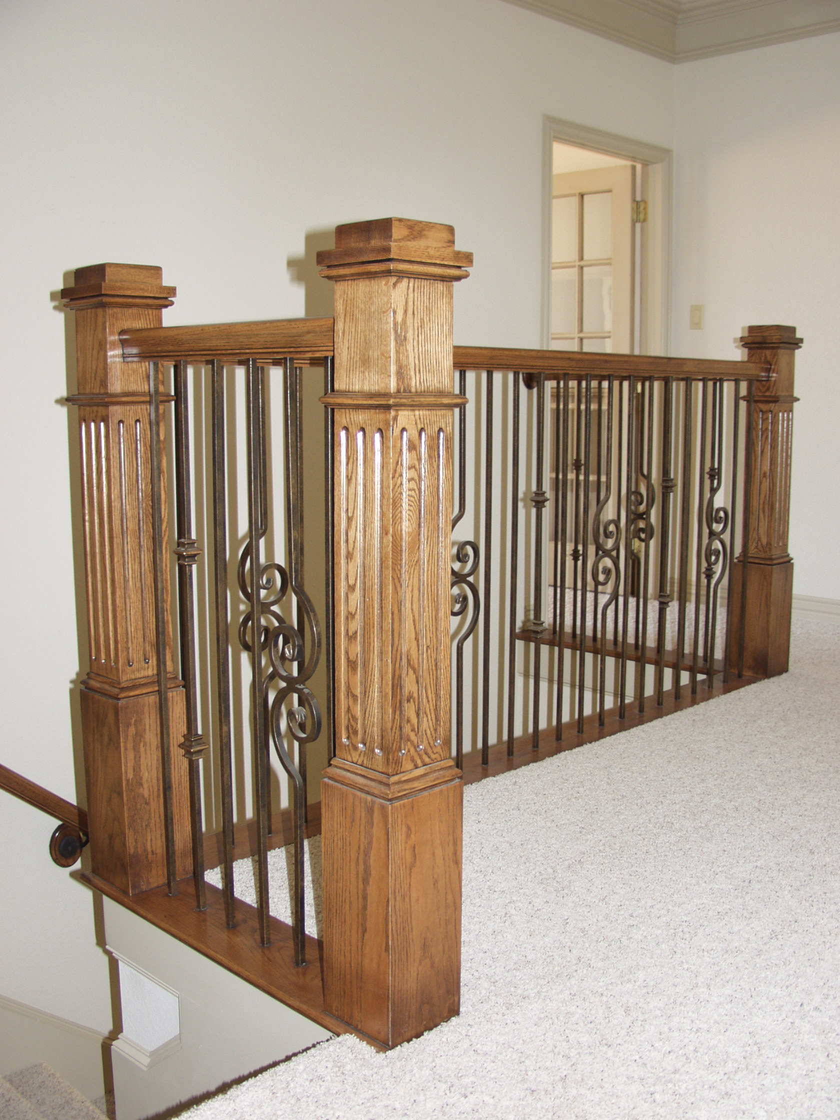 Versatile Stair Balusters with Large Box Newels