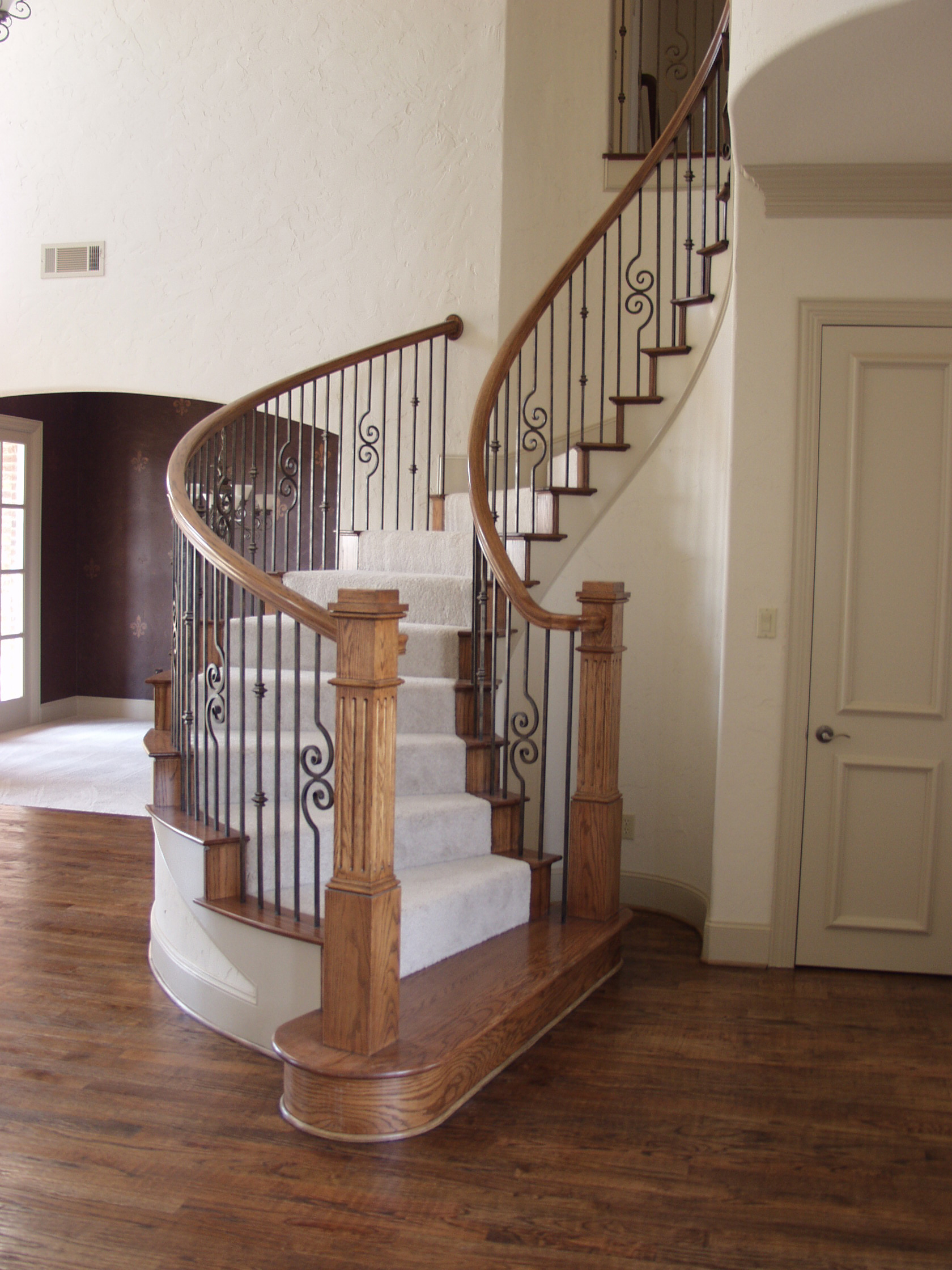 Versatile In a Circular Staircase with Scrolls